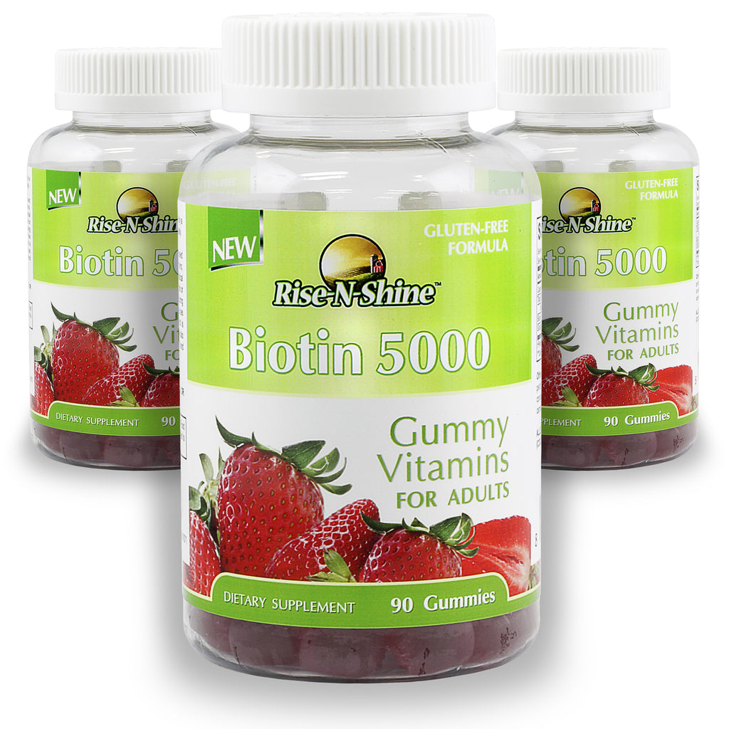 Buy 2 Get 1 Free Biotin 5000 Adult Gummy Vitamins.