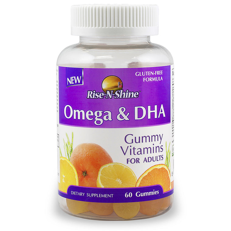 Omega & DHA Gummy Vitamin for Adults. Gluten Free