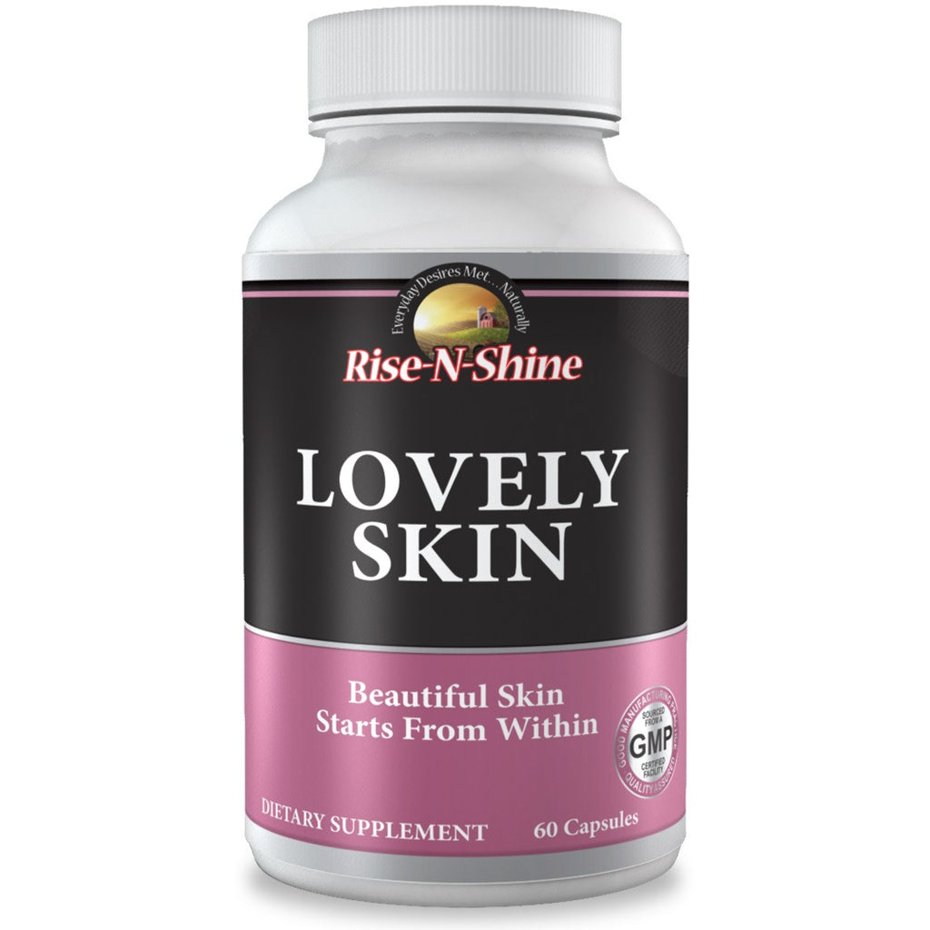 Lovely Skin - Beautiful Skin Starts from within. Made with Collagen, Hyaluric Acid & Resveratrol.  Made by the founders of Go Away Gray & Catalase Extreme 10,000