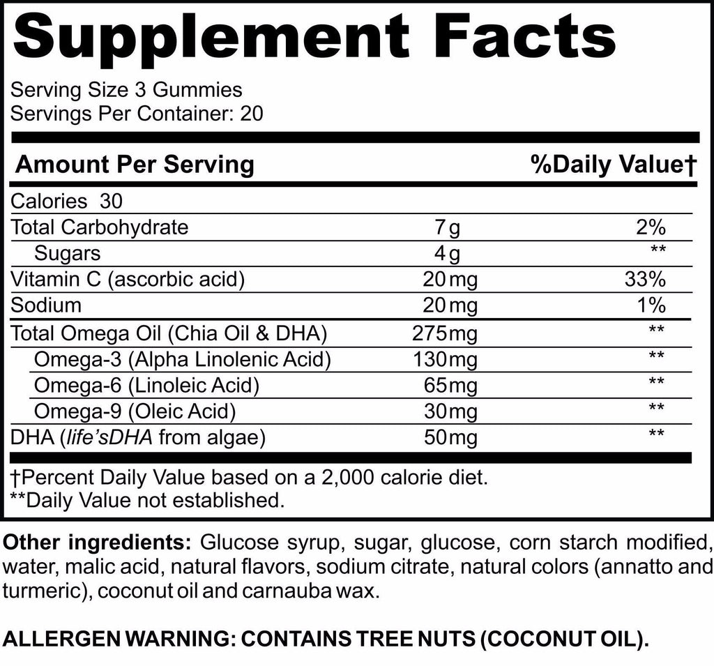 Omega & DHA Gummy Vitamins - 90 Count