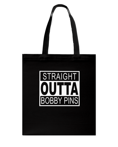 Straight Outta Bobby Pins Canvas Bag