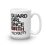 Guard Girl Since Tryouts Mug