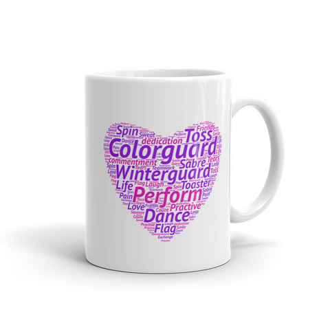 Color Guard Heart Cloud Mug