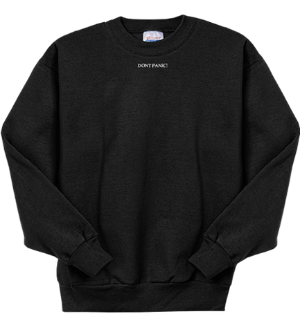 DONT PANIC EMBROIDERED CREWNECK