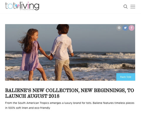 Baliene featured in Tot Living