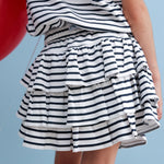 Load image into Gallery viewer, Pima Cotton Striped Skirt