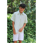 Linen Short Sleeve Dress Shirt - Baliene