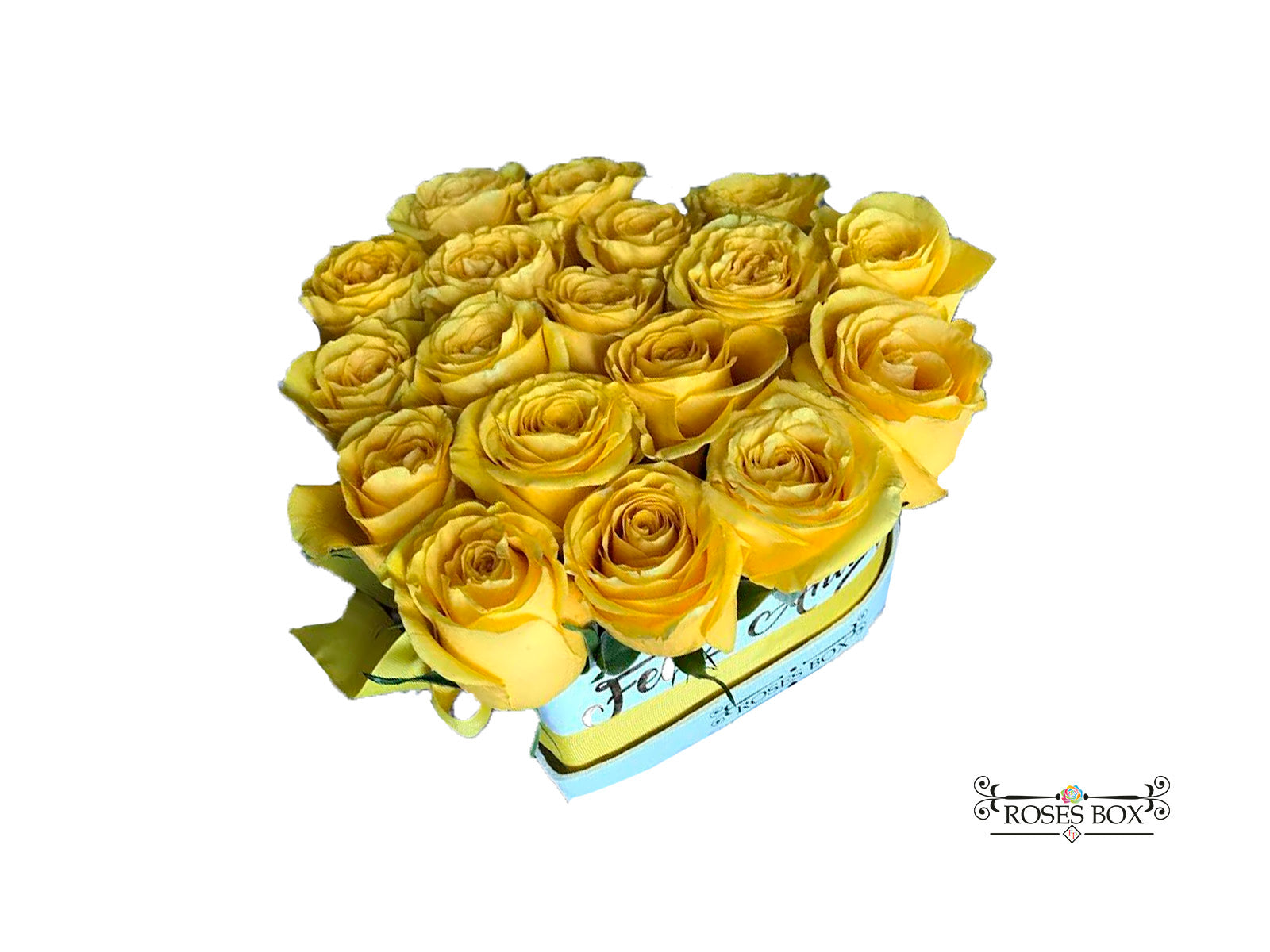 Heart Box 18-20 Rosas Amarillas