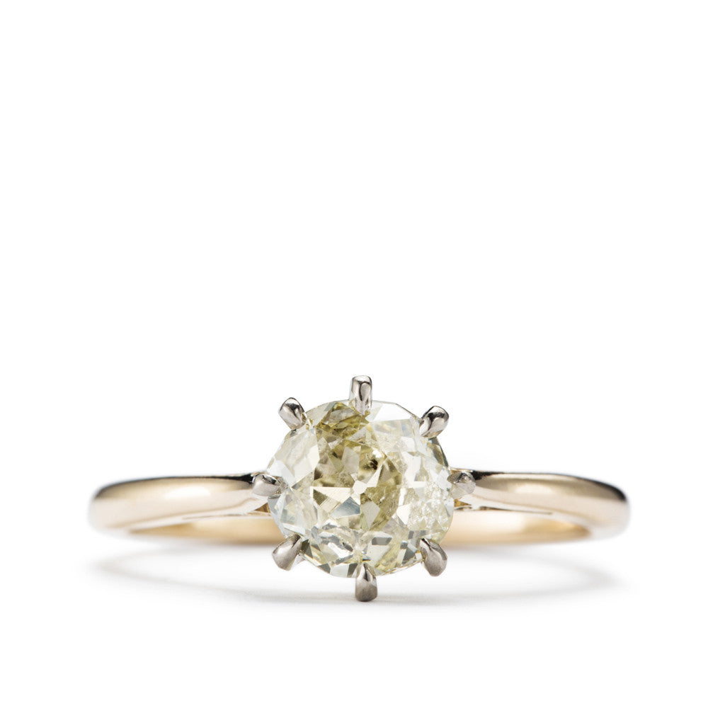 Antique Diamond solitaire 'Sugar Baby.'