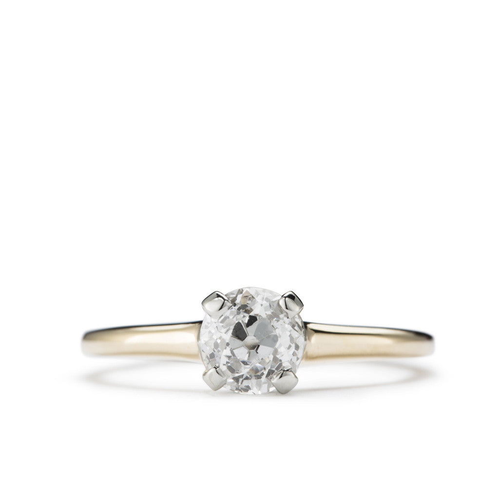 Antique Diamond solitaire engagement ring 'Snowball.'