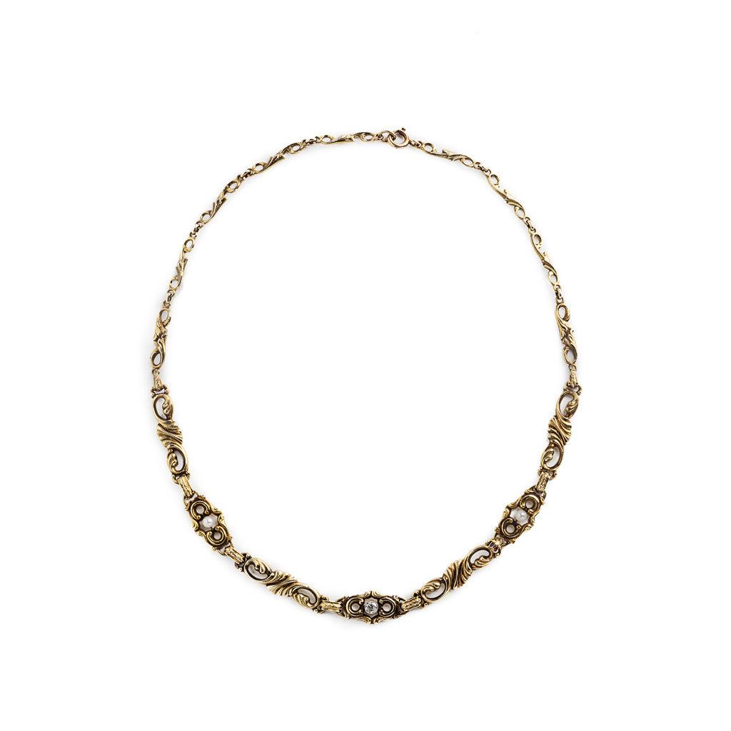 Antique Gold and Diamond Choker Necklace