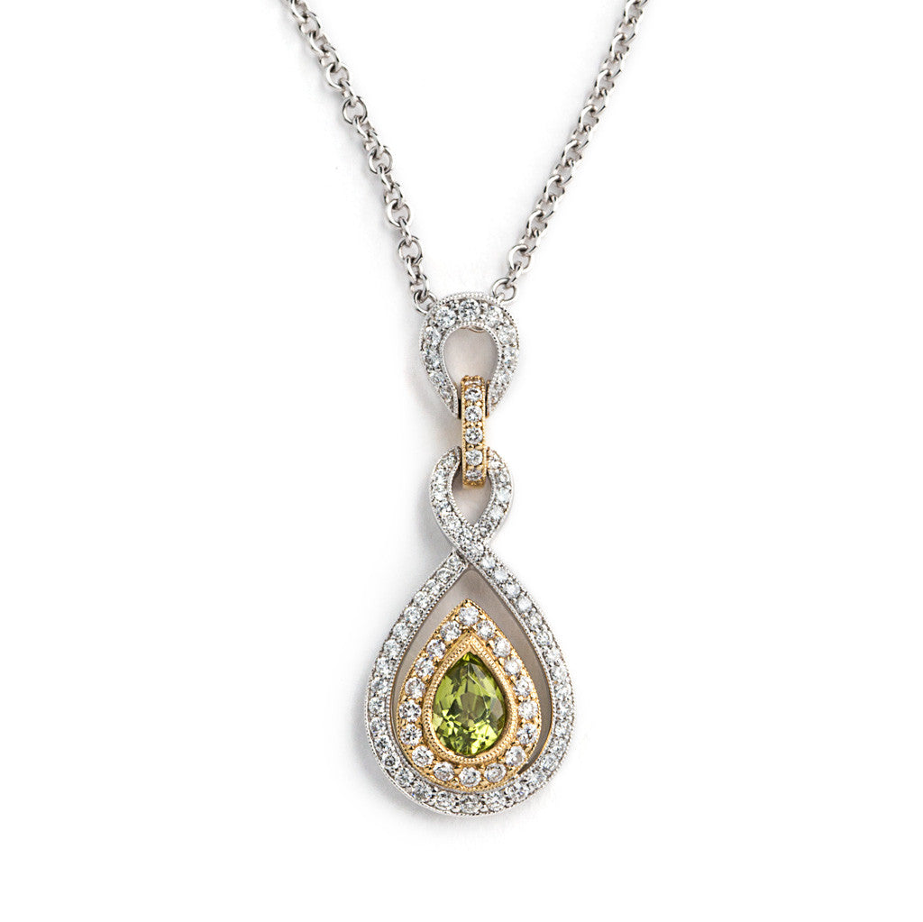 Pendant of Peridot and Diamond by Spark