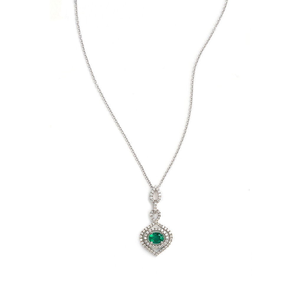 Diamond and Emerald Pendant 'Emerald Genie'