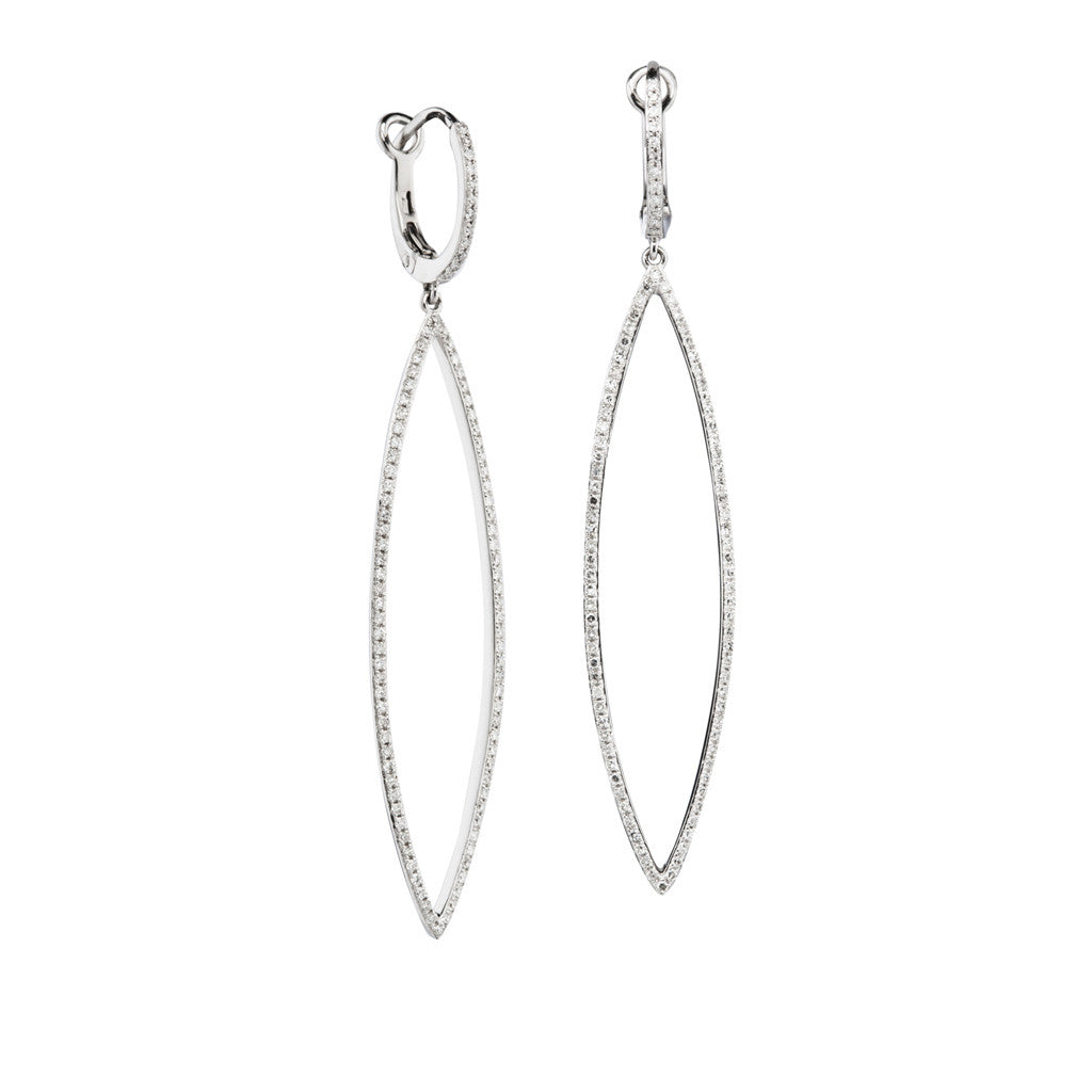 Marquise Diamond Dangle Earrings by Luvente