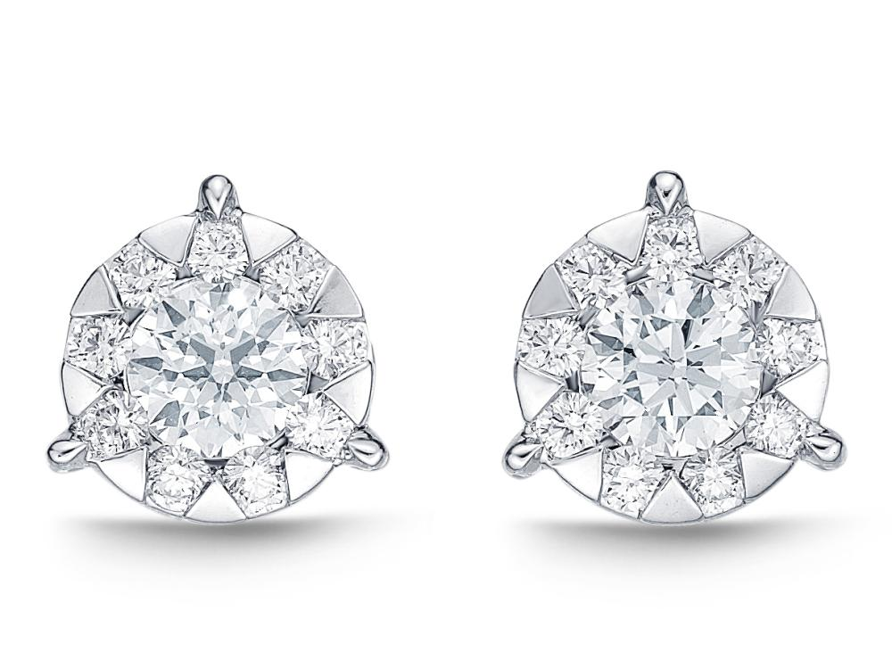 Bouquet Diamond Stud Earrings 0.71ctw