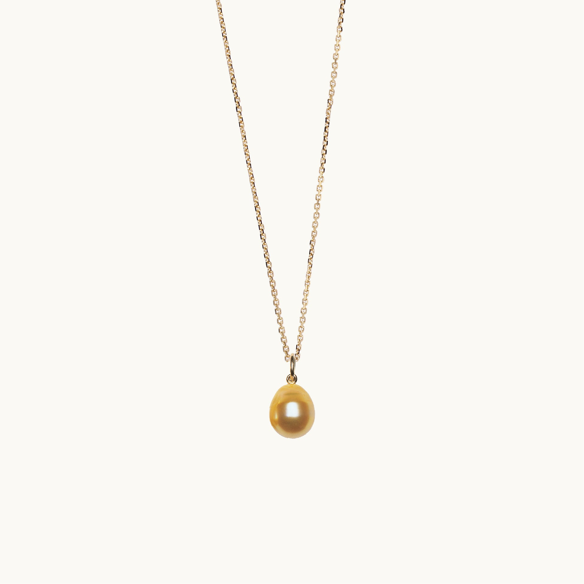 Golden Baroque Pearl Pendant 11.5mm