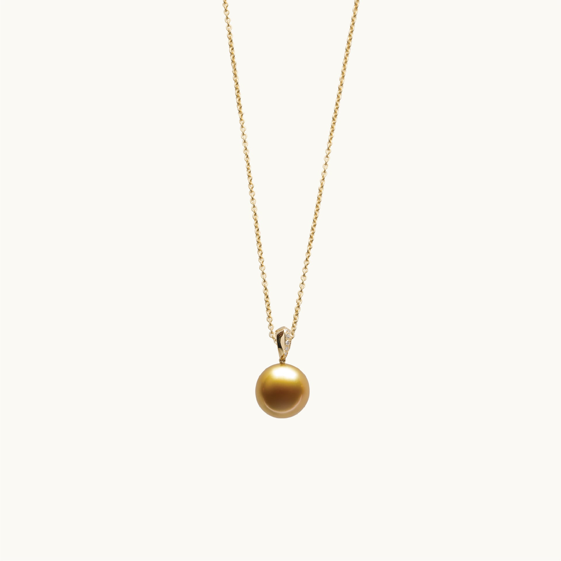 Golden Pearl & Diamond Necklace