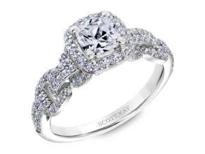 Scott Kay 'Embrace' Cushion Shaped Diamond Engagement Ring