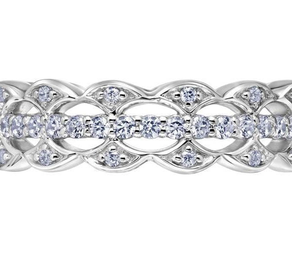 Heaven's Gate Triple Eternity Band in white gold and diamonds.