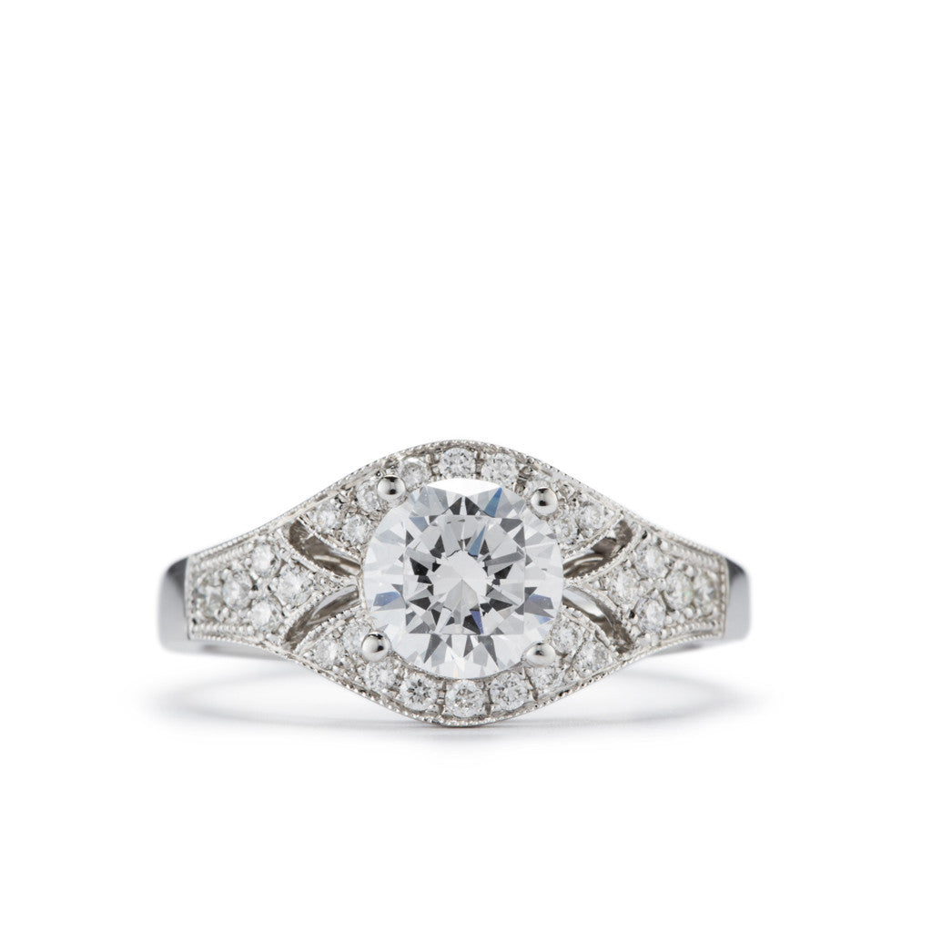 Star Shine Filigree Engagement Ring