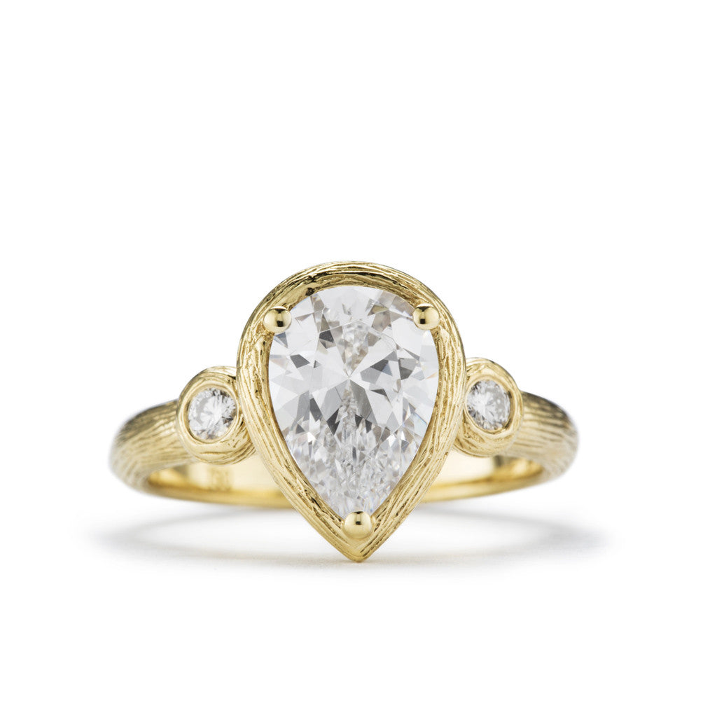 Artemis Pear Diamond Engagement Ring