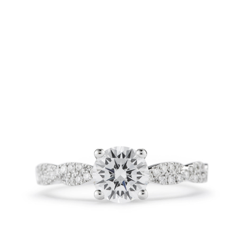 Diamond Engagement Ring with Twisting Shank.