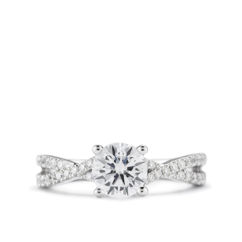 Diamond Twist Engagement Ring by Diadori