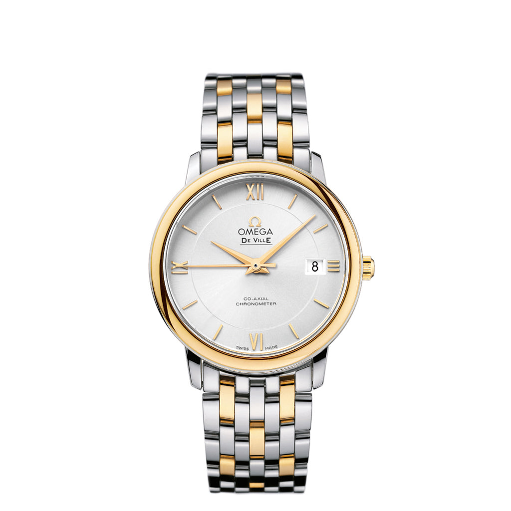 De Ville Prestige Co-Axial Watch in Two-Tone Stainless Steel and 18k Yellow gold.