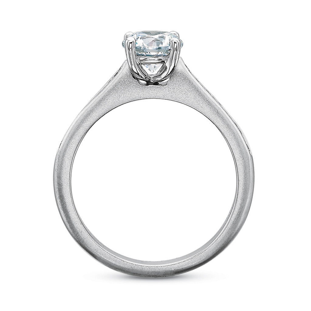 Oval Diamond Solitaire Engagement Ring Mounting
