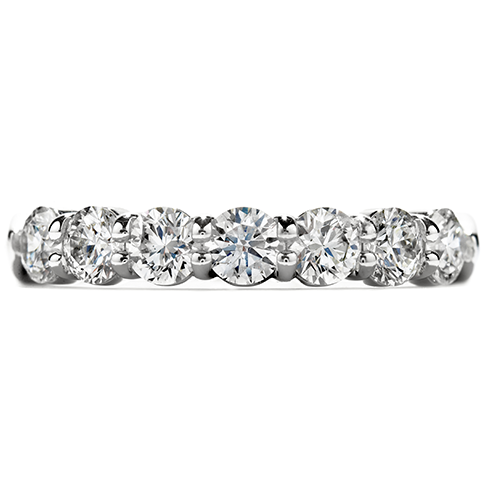 Seven Stone Diamond Wedding Band by Hearts on Fire