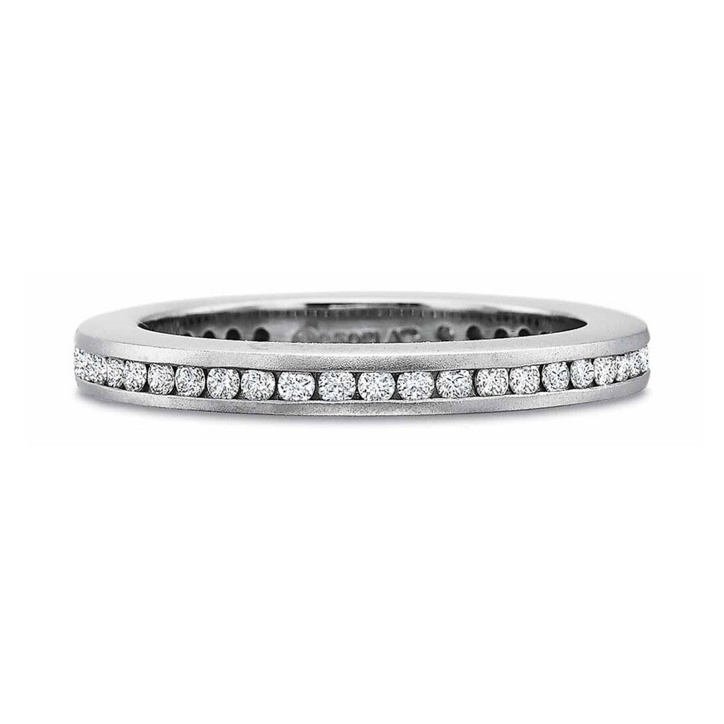 Platinum Channel Set Eternity Band