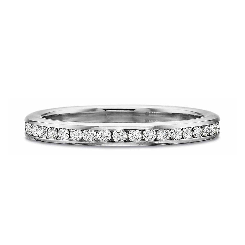 Matte Diamond Half Round Band