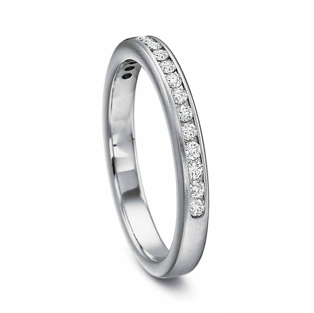 Half Round Diamond Wedding Band