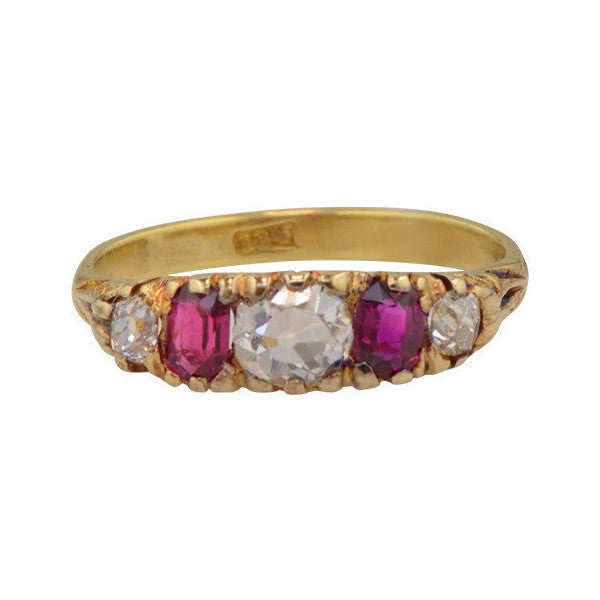 Antique Diamond and Ruby Band Cymbeline
