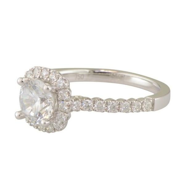 Cushion halo diamond engagement ring 'Brunswick' by Diadori.