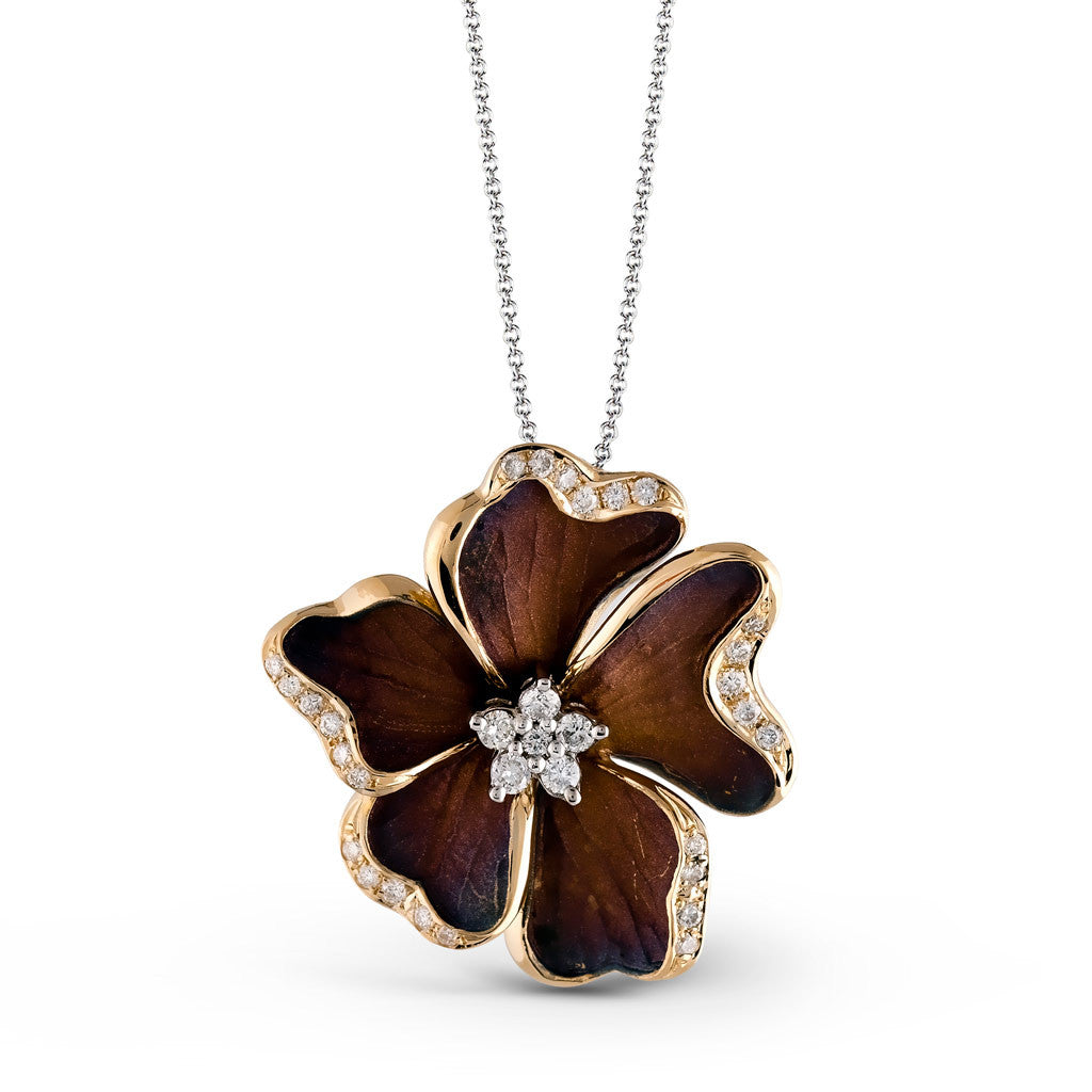 Organic Allure Flower Necklace by Simon G