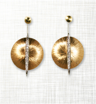 Gold Statement Earrings from Sakamoto.