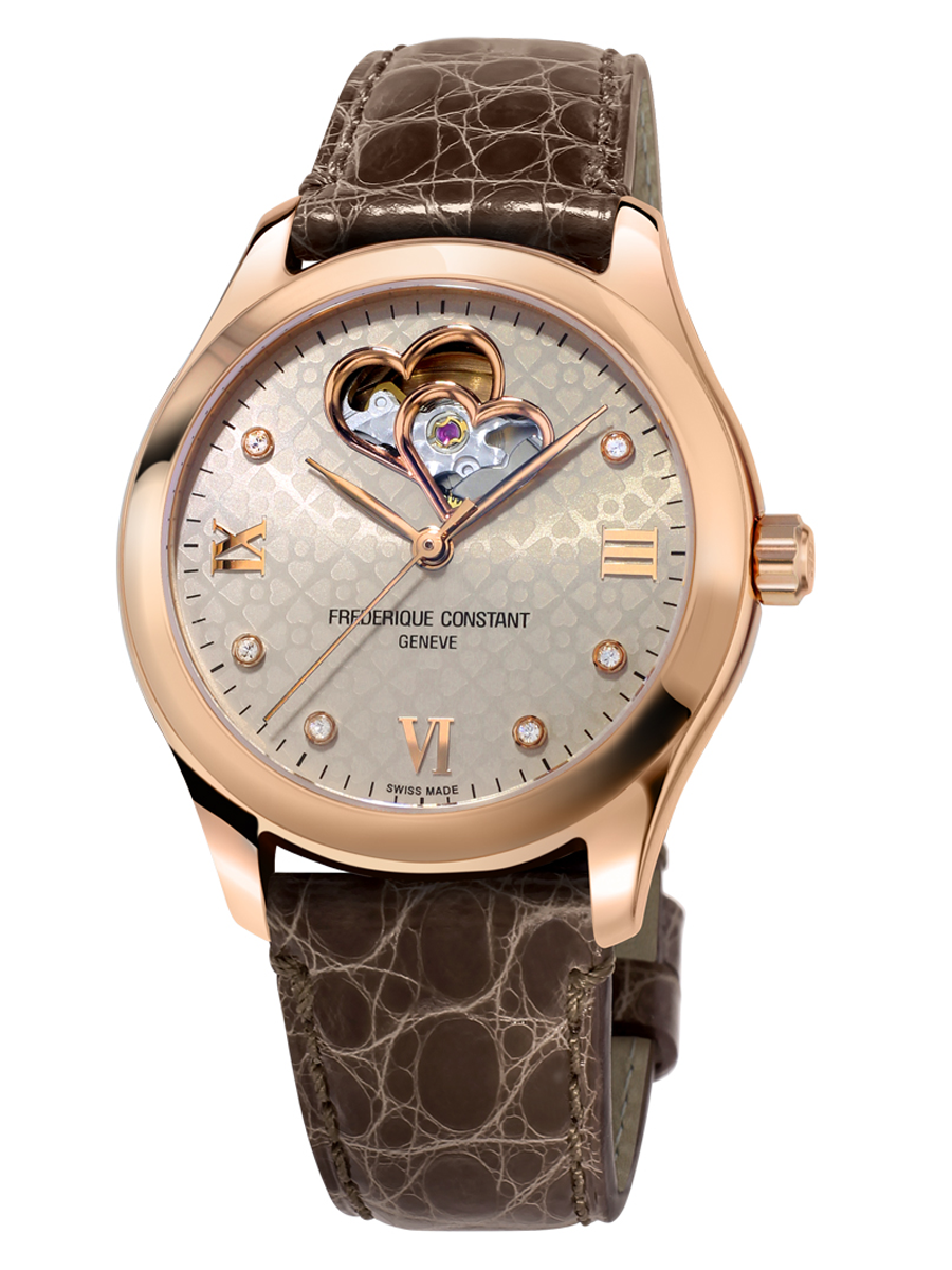 Ladies Automatic Double Heart Beat Time Piece  FC-310LGDHB3B4 by Frederique Constant