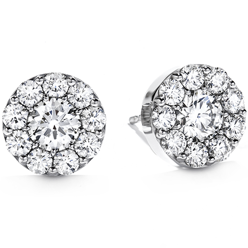 Fufillment Diamond Stud Earrings by Hearts on Fire