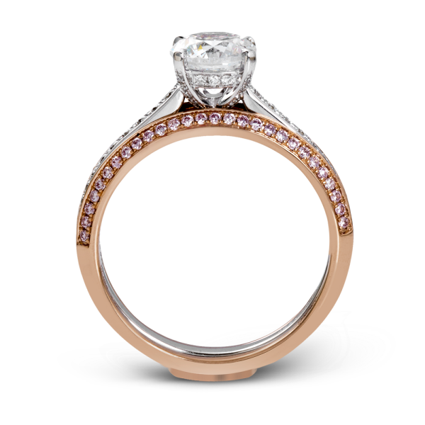 'Glass Slipper' Two-tone wedding set in pink gold and with gold.