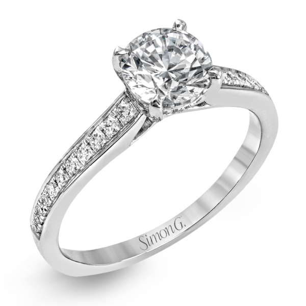 "White gold and Diamond Engagement Ring ""Glass Slipper"" by Simon G"