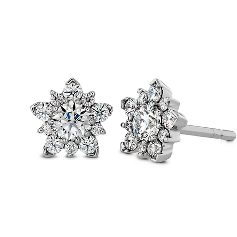 "Diamond Cluster Stud Earrings ""Aerial"" by Hearts on Fire"