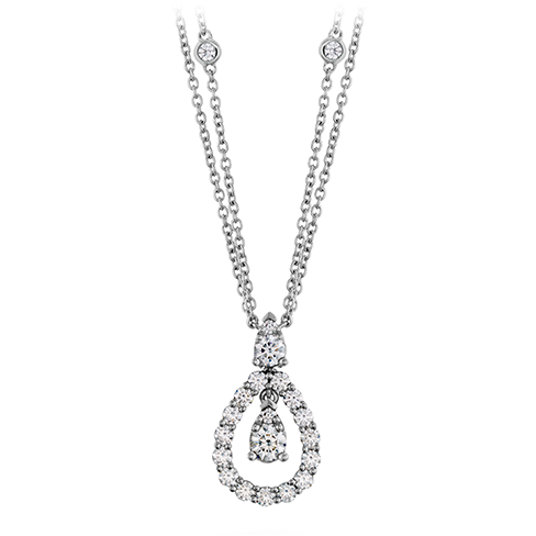 Diamond Drop Pendant Necklace by Hearts on Fire