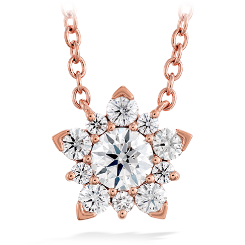 Rose Gold and Diamond Aerial Cluster Pendant Necklace by Hearts on Fire