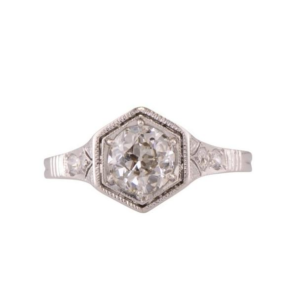 Hawthorne Edwardian Diamond Engagement ring in Paltinum