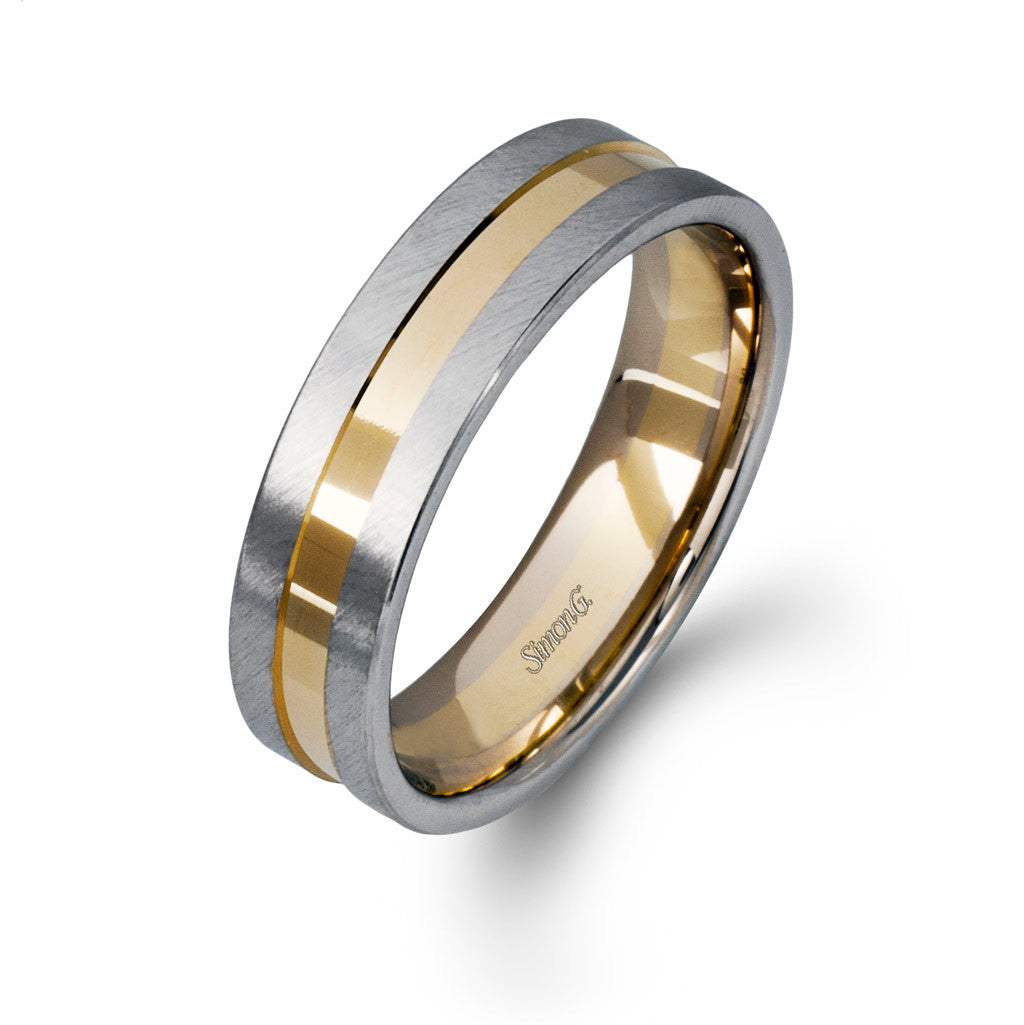 Two-tone Wedding Band by Simon G