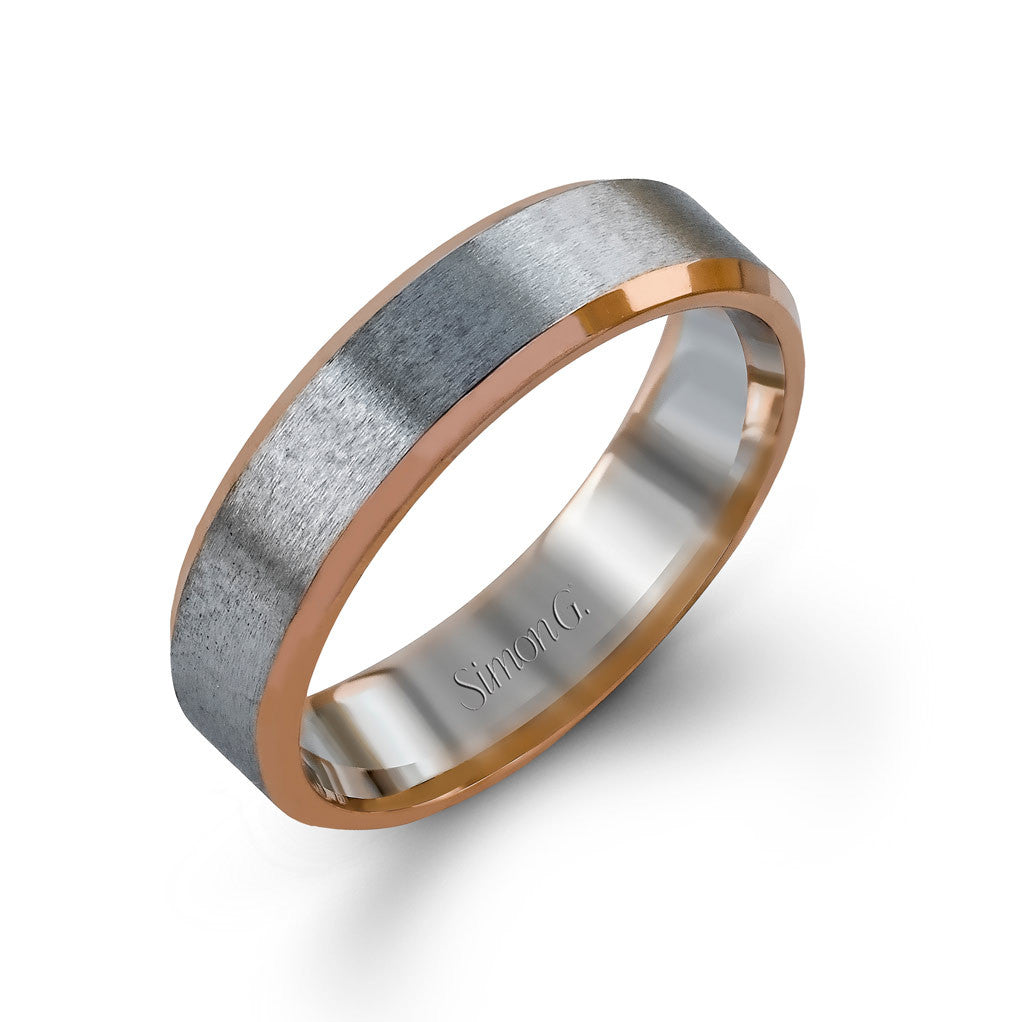 Modern Two-tone Man's Wedding Ring