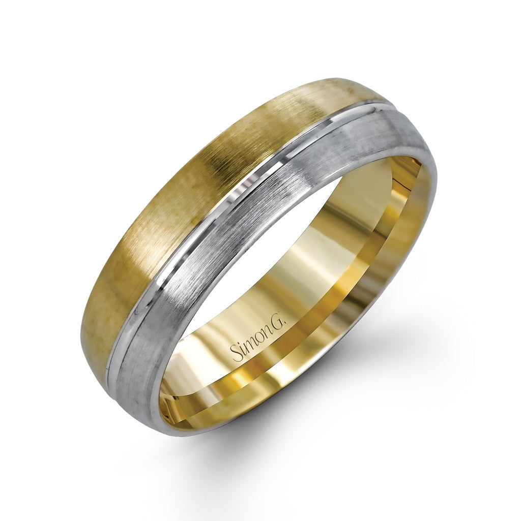Modern Two Tone Men's Wedding Band