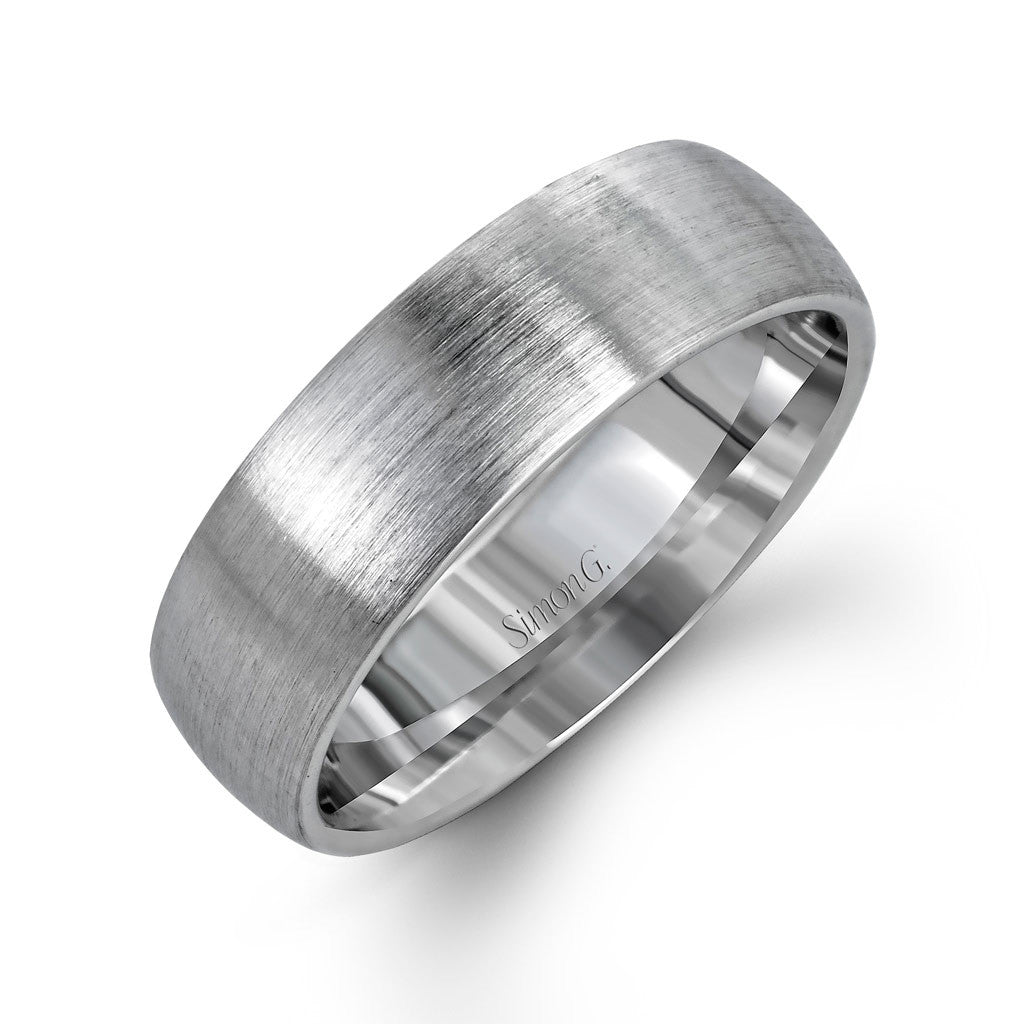 Classic Men's Wedding Band with Brushed Finish
