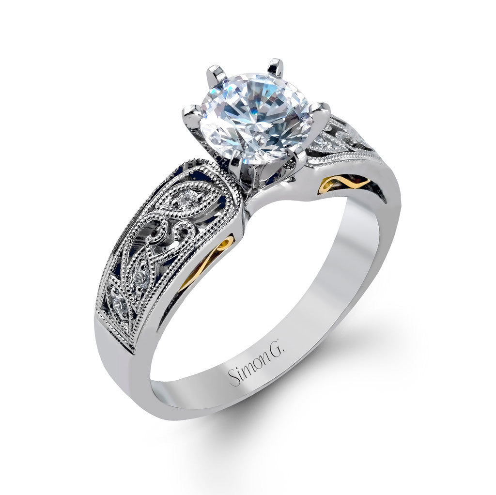 Filigree Engagement Ring by Simon G
